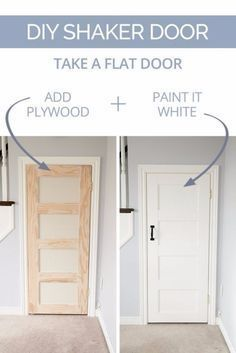 DIY Home Improvement On A Budget - DIY Shaker Door - Easy and Cheap Do It Yourself Tutorials for Updating and Renovating Your House - Home Decor Tips and Tricks, Remodeling and Decorating Hacks - DIY Projects and Crafts by DIY JOY http://diyjoy.com/diy-home-improvement-ideas-budget