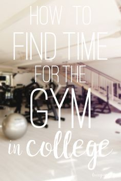 Wanting to get into a gym routine while in college? Here's some tips for how to…