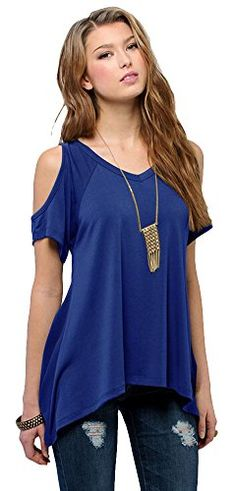 Women's Vogue Shoulder Off Wide Hem Design Top Shirt (X-Small, Royal blue) Urban CoCo http://www.amazon.com/dp/B0111HOVW8/ref=cm_sw_r_pi_dp_90pbwb106PN4T