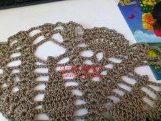 Blusa em crochê ponto abacaxi com passo a passo e gráfico - Katia Ribeiro Moda e Decoração Handmade