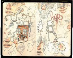 Sketchbook page from Moleskine. By Steve Salgado