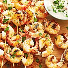 Ingredients: shrimp, sweet peppers, sour cream  On-hand ingredients: olive oil, salt, black pepper  Succulent grilled shrimp pairs beautifully with homemade sweet red pepper sauce. Grill up some veggies, fruit, or bread to pair with this low-cal entree to round out the meal./