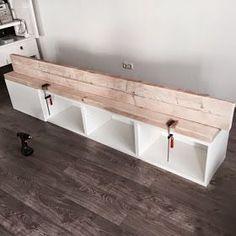 Pimpish: DIY: Ikea hack (furniture pimping with scaffolding wood) - Tia Webb - . Pimpish: DIY: Ikea hack (furniture pimping with scaffolding wood) – Tia Webb – # Home Living Room, Interior Design Living Room, Scaffolding Wood, Ikea Furniture, Furniture Stores, Office Furniture, Furniture Ideas, Ikea Hacks, Diy Home Decor