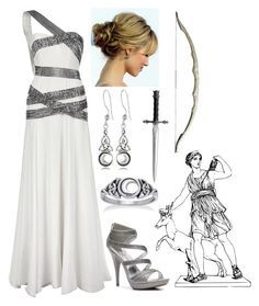 """""""Artemis (Goddess of the Hunt)"""" I might use this for hoco Fandom Outfits, Komplette Outfits, Fashion Outfits, Greek Goddess Costume, Goddess Dress, Artemis Costume, Greek Fashion, Fandom Fashion, Prom Dresses"""