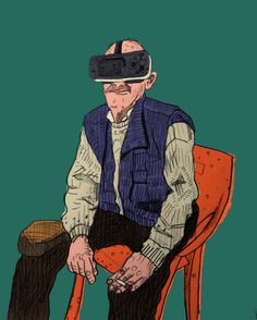 An awesome Virtual Reality pic! Welcome to the virtual reality.  #virtual #reality #virtualreality #3d #oldman #drawing #digitalart #digitalpainting #portrait #art #illustration #character #characterdesign #concept #conceptart #colorful #hitec #LuisRico by gorrionmojao check us out: http://bit.ly/1KyLetq