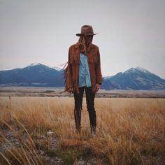 vintage leather fringe jacket  - women's medium by WindyPeakVintage