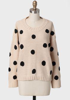polka sweater $44
