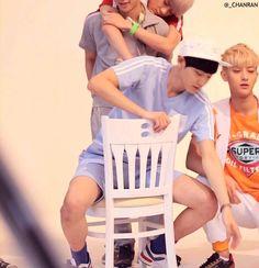 Naughty Chanyeol~ and layhun ago lol