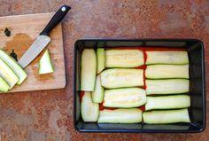 Vegan Gluten-Free Lasagne Being Assembled
