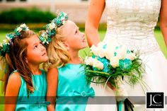 "Love the turquoise flower girl dresses. Not a fan of ""mini me's"""