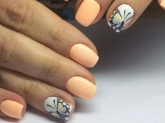 Cute Nail design with butterflies