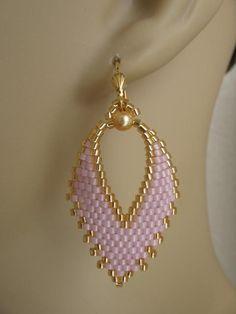 Russian Leaf Earrings Gold Fleck Petunia by pattimacs on Etsy