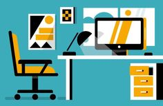 One of the illustrations designed for Office Depot.
