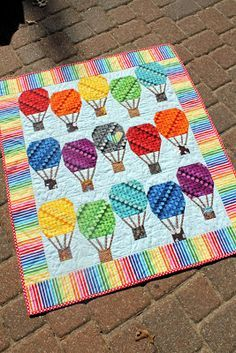 hot air balloon quilt on Pinterest