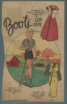 9-20-53 Boots paper doll of Pug / eBay