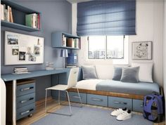 46 Awesome Small Bedroom Design Ideas To Get Comfortable Sleep. 46 Awesome Small Bedroom Design Ideas To Get Comfortable Sleep. Space is a standout amongst the most widely recognized issues with condominiums and lofts nowadays. Bedroom Diy, Teenage Room, Small Bedroom Designs, Small Room Bedroom, Bedroom Interior, Home, Traditional Kids Bedroom, Remodel Bedroom, Boys Bedrooms