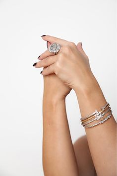 jewelry model - rings and bracelets