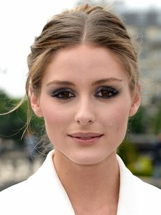 Olivia Palermo with smokey eyes and nude lips