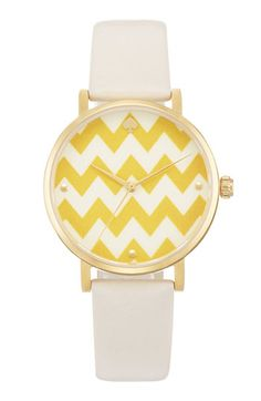 Kate Spade New York 'Metro' chevron watch... Yes yes yes please!