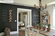 Next project. Chalkboard wall and working in the kitchen! !