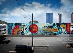 """ by Shepard Fairey (Obey) Murals Street Art, Mural Art, Wall Murals, Shepard Fairy, Shepard Fairey Obey, Graffiti, Galerie D'art En Ligne, Illusion Art, Selling Art"