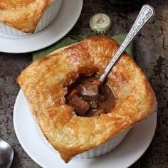 Beef and Guinness Pies with Puff Pastry   Baked by Rachel