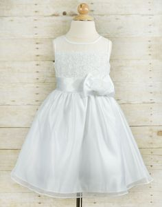 Eye-catching White Net and Silk Tulle Dress - White