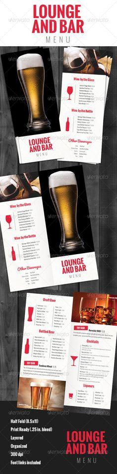Colors and design Flyer Design Inspiration Pinterest Sports - drinks menu template