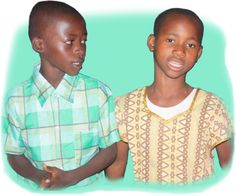 A Kenyan boy and girl
