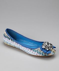 Blue Brook Jewel Flat by GC SHoes