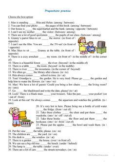 Prepositions Practice worksheet - Free ESL printable worksheets made by teachers