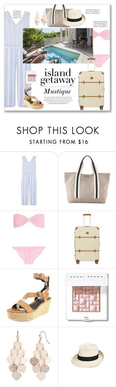 """Island Getaway:  Mustique"" by jzanzig ❤ liked on Polyvore featuring Lemlem, Heidi Klein, Hunza G, Whiteley, Bric's, Elie Tahari, Bobbi Brown Cosmetics, LC Lauren Conrad, Eric Javits and outfitsfortravel"