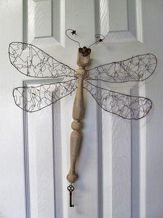 oversized metal dragonfly garden art - Google Search