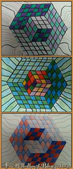 Lots of op art ideas and how-tos Also another resource that will not pin can be found here... http://www.michaelbach.de/ot/