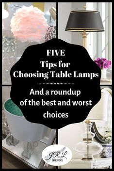 5 Tips for Choosing Table Lamps And a roundup of the best and worst choices Table Lamp Wood, A Table, Glass Lamp Base, House Lamp, Lamp Switch, Tall Lamps, Table Lamps For Bedroom, Buffet Lamps, Drink Table
