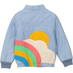 Tootsa Sunrise Quilted Denim Jacket - Light Retro Baby Clothes - Baby Boy clothes - Danish Baby Clothes - Smafolk - Toddler clothing - Baby Clothing - Baby clothes Online