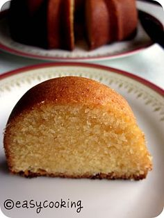 Condensed Milk Pound Cake...I envision a chocolate drizzle and sliced strawberries on the side.
