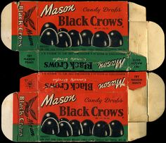 Mason - Black Crows candy box - 1930's 1940's 1950's by JasonLiebig, via Flickr