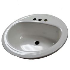Bootz Industries Laurel Self-Rimming Bathroom Sink in White-021-2435-00 - The Home Depot