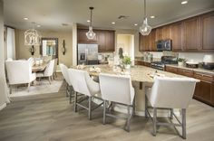 If you had a kitchen this NEAT, would you cook something savory or SWEET?!  The Addington #dreamhome