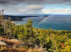 Sugar Loaf Mountain as rainstorms come off Lake Superior, Marquette, MI