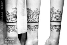 Wrist Band Tattoo symbolize wealth, good fortune and prosperity. Peony is a strong symbol of beauty, fragility and transitory nature of existence...