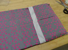 sewing a baby changing mat