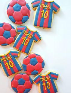 FC Barcelona Soccer Cookies
