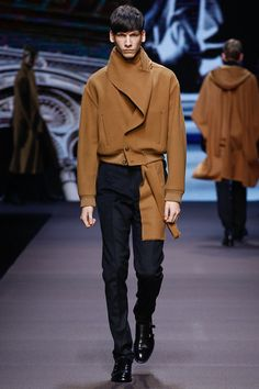 Ermenegildo Zegna | Fall 2014 Menswear Collection | Style.com ^~^collarscarf blazer!