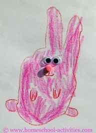 Hand Print Bunny - for those with kids this Easter
