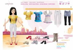Lorifina, the new Fashion Doll from Hasbro   The Dollhead. Screen cap from www.lorifina.com - the Tokyo collection, 2008.