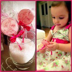 Customized lollipops great idea for part favors!