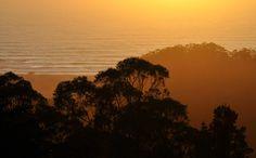 Sundown over the Pacific