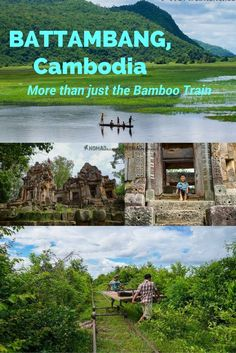 From the fascinating ruins of temples from the Angkorian period to the famous rickety bamboo train, Battambang has quite a lot to hold a traveller's attention for a few days. Less traffic, farmland and mountains located a short distance from the city centre, there is a host of attractions worth visiting – not just the bamboo train. #cambodia #battambang #bambootrain #angkorwat